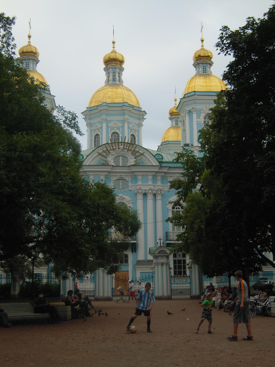 One of the wonderful churches at Saint Petersburg. Photo Credits: Dr. Carlos López-SanJuan.