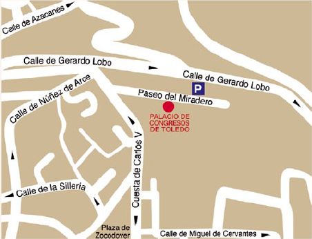 Location of the Toledo Congress Center