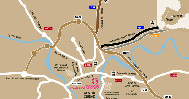 Map of the location of Toledo